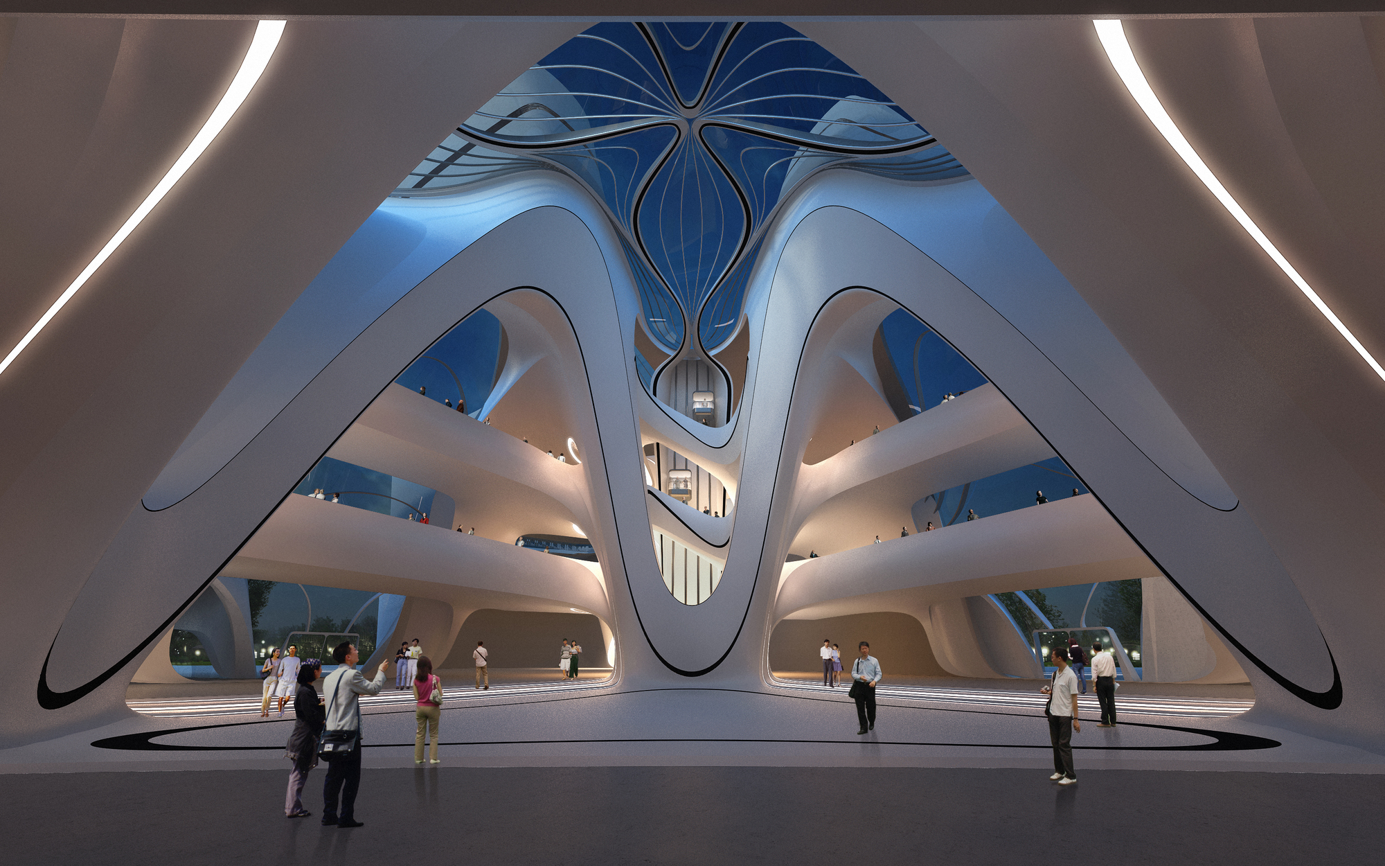 ZAHA HADID ARCHITECTS CHANGSHA MEIXIHU INTERNATIONAL CULTURE AND ART CENTER