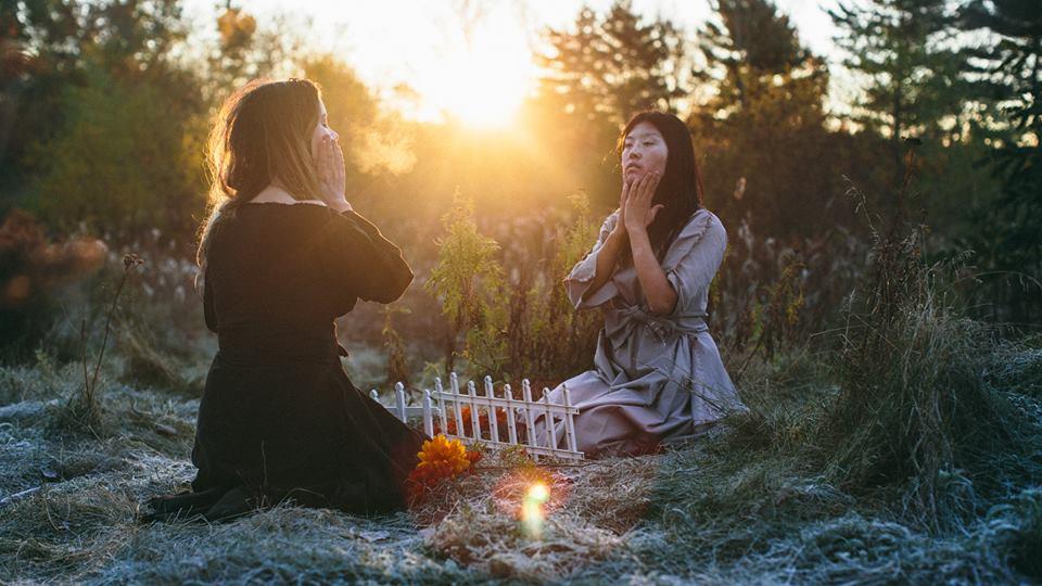 Autumn Ahn and Amanda Antunes half