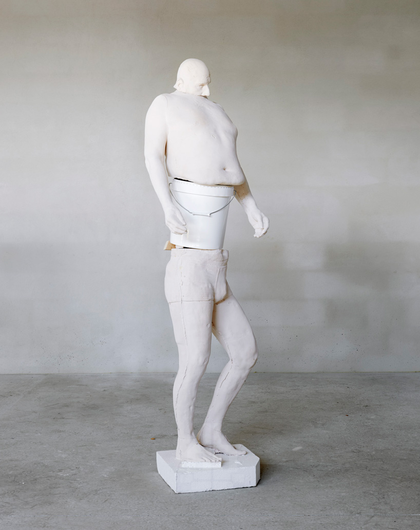 erwin wurm  white bucket