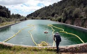 santiago morilla   draws bathing man using floating pool tubes