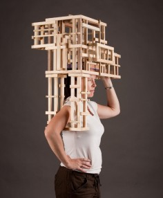 TRACY FEATHERSTONE  Wearable Structure- Head Organized