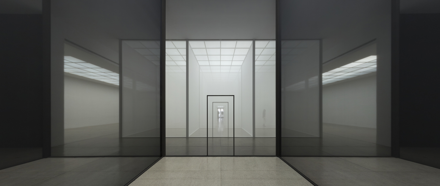"""ROBERT IRWIN: """"DOUBLE BLIND"""", at the Vienna Secession, Vienna, A"""