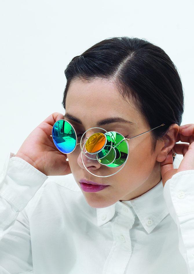 Honggang Lu LUNAR ECLIPSE Necklace Sunglasses