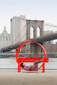 Jeppe Hein  Please touch the art Brooklyn park NYC