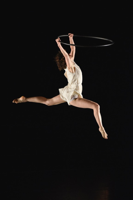 Gabrielle Revlock dancing with Hoop