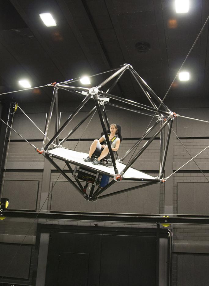 Leicht und filigran: Der Seilsimulator setzt neue Maßstäbe