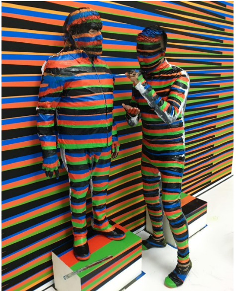 Liu Bolin and Carlos Cruz-Diez