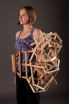 TRACY FEATHERSTONE wearable sculptures