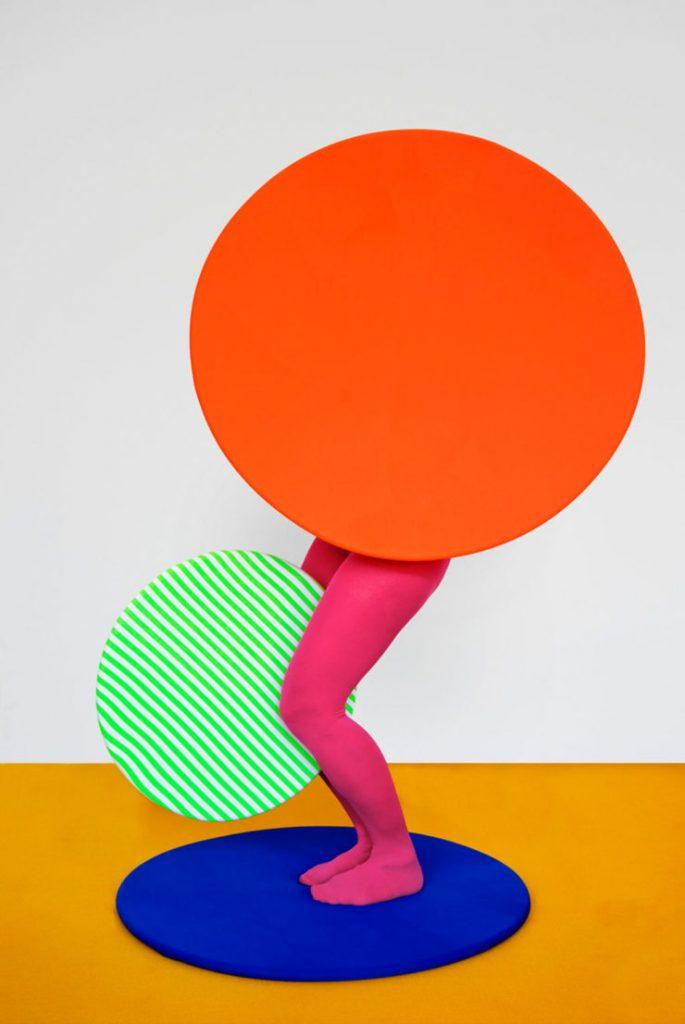 GUDA KOSTER compositie met oranje cirkel