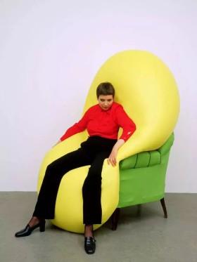 Hans Hemmert Yellow sculpture